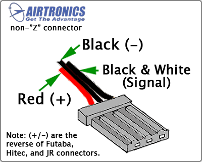 airtronicsconnector servo wiring information futaba s3003 wiring diagram at eliteediting.co