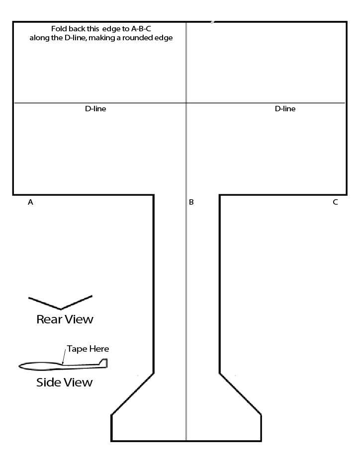 airplane cut out template - kids science airplane template